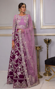 Embroidered Blouse And Velvet Lehenga