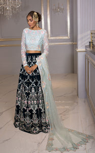 Unstitched blouse and lehenga