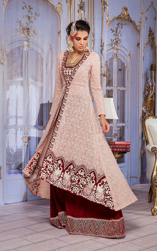 Unstitched Chiffon Embroidered Dress