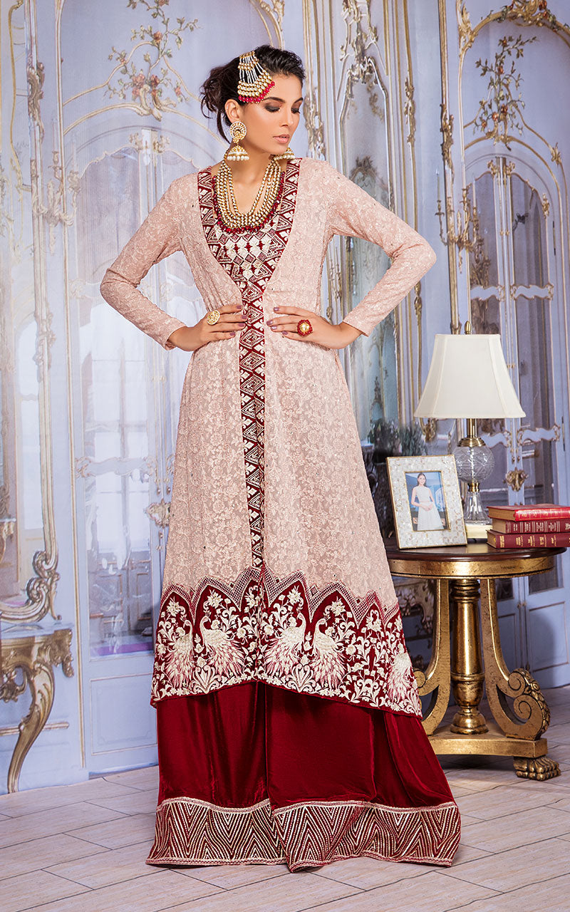 Fully Chiffon Embroidered Dress