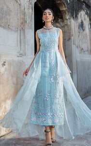 Unstitched Organza Embroidered Dress
