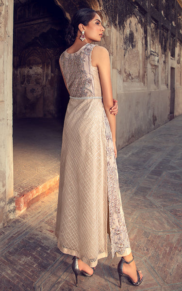 Net Embroidered Dress