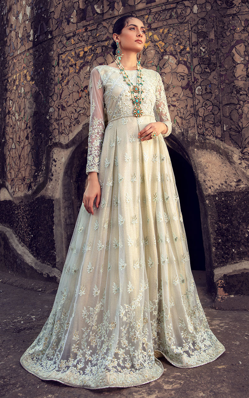 Thred and Motifs Net Embroidered Dress 6848 Noor-E-Seher