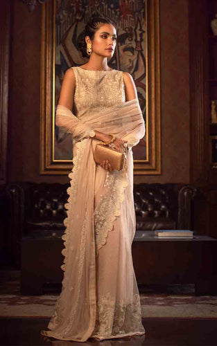 Net Embroidered Saree