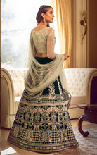 Velvet Embroidered Lehanga And Blouse