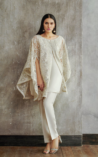 Organza Embroidered Cape