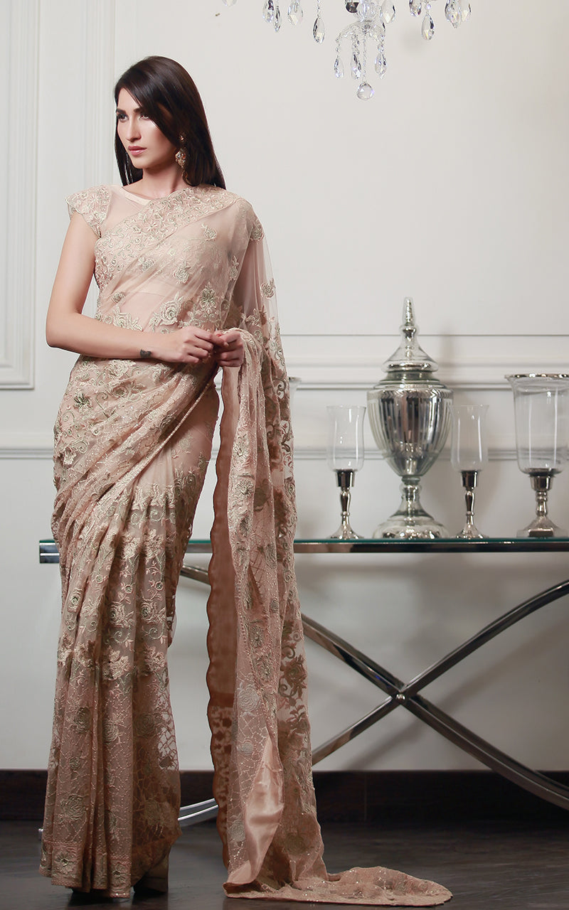 Fully Embroidered Saree