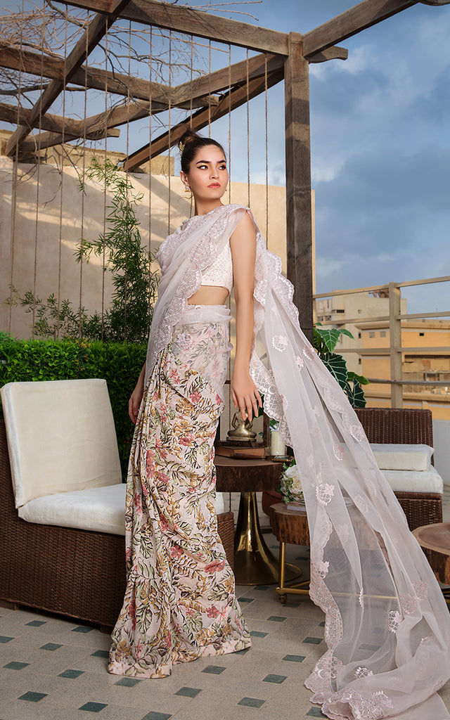 Printed/Embroidered Saree