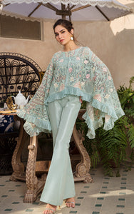 Net Embroidered Cape