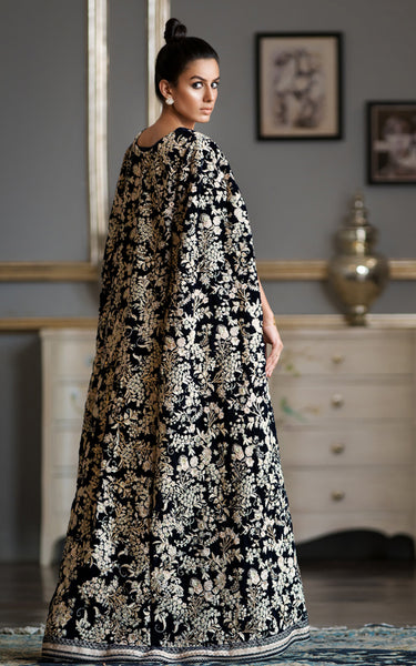 Velvet Embroidered Cape