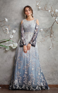 Chiffon Embroidered Dress
