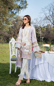 Unstitched 3PC lawn suit