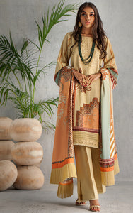 UNSTITCHED KHADDAR 3PCS SUIT