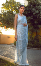 Unstitched Net Embroidered Saree