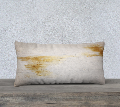 "SERENE ""GOLD SPLASH"" PILLOW"