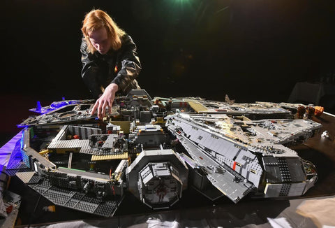 Lego Millennium Falcon made of 70,000 parts