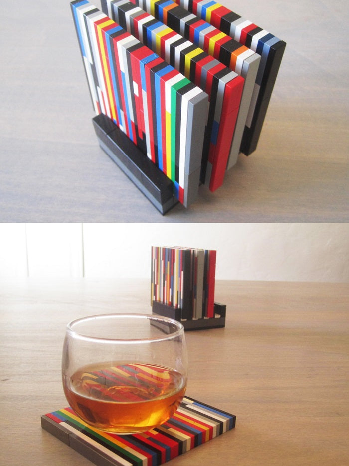 lego glass coasters idea laminifigs