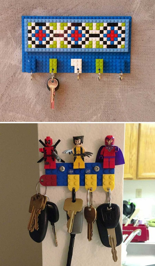 lego house key holder idea laminifigs