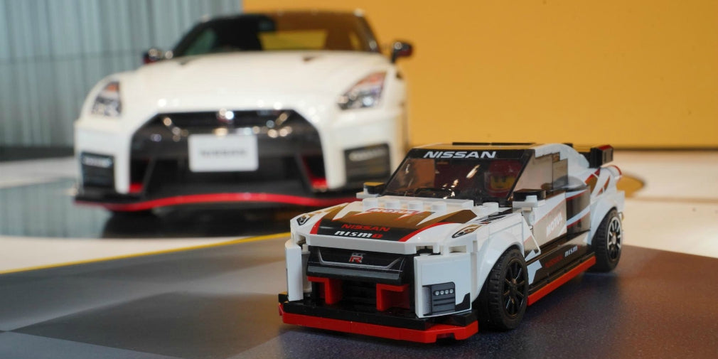 LEGO Nissan GT-R Nismo made of 300 Lego parts