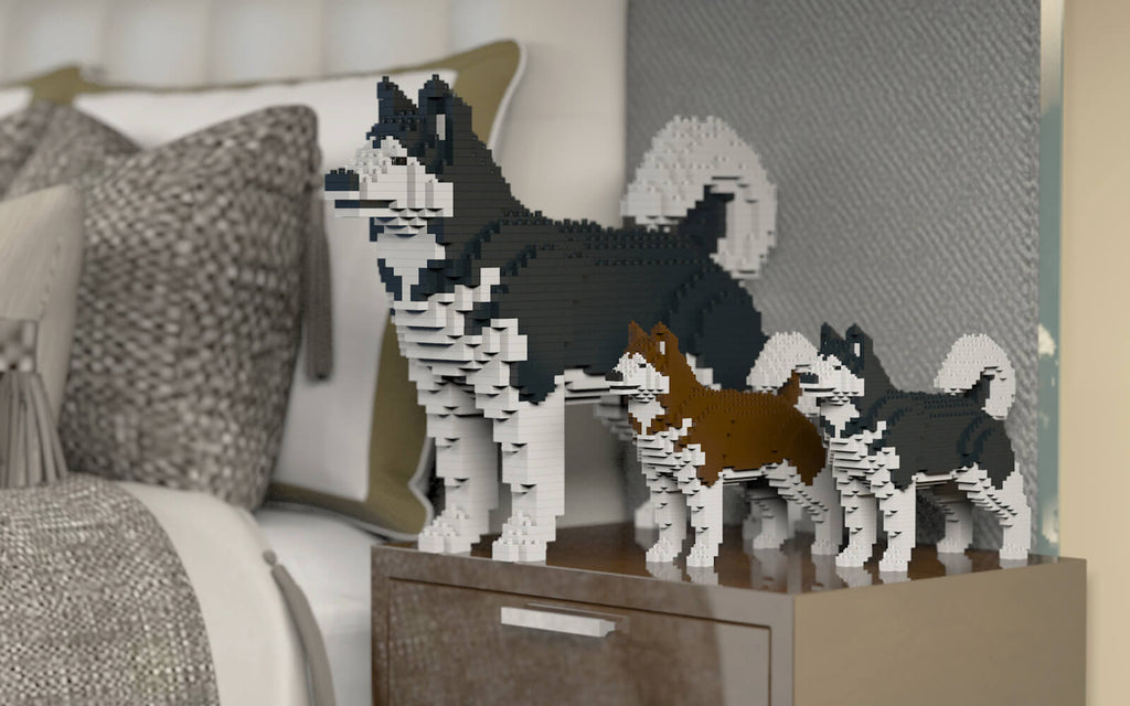 Lego Dogs Sculptures Collection