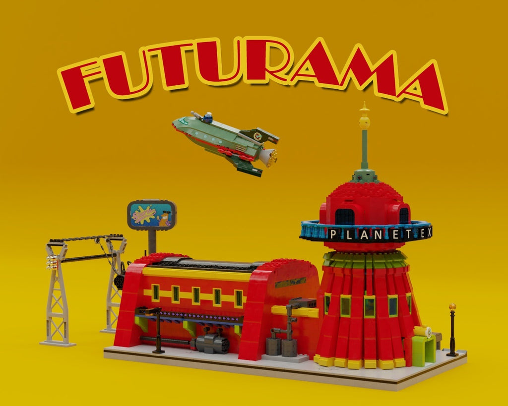 Futurama Headquarter, Spaceship and the Crew LAMINIFIGS