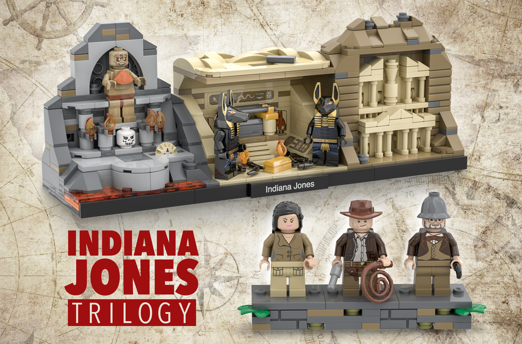 Indiana Jones Trilogy LAMINIFIGS