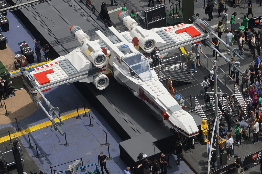 LEGO® presented a full-scale Star Wars X-Wing fighter at the Paris Air Show