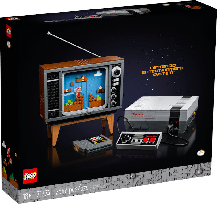 "The new LEGO building set allows you to build a Nintendo NES console and even ""play"" Super Mario Bros"