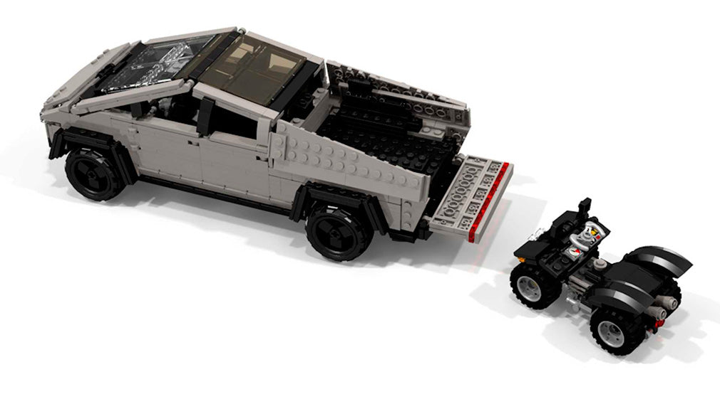 Tesla Cybertruck made of LEGO | LAMINIFIGS