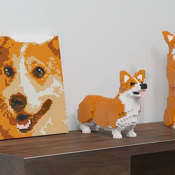 Welsh Corgi Brick Paintings - LAminifigs