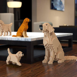 Golden Retriever Dog Sculptures, Brick Paintings, Pencil Cups - LAminifigs