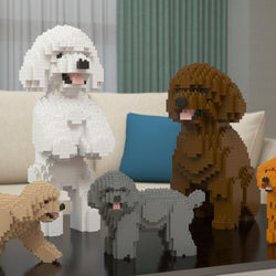 Toy Poodle Dog Sculptures - LAminifigs