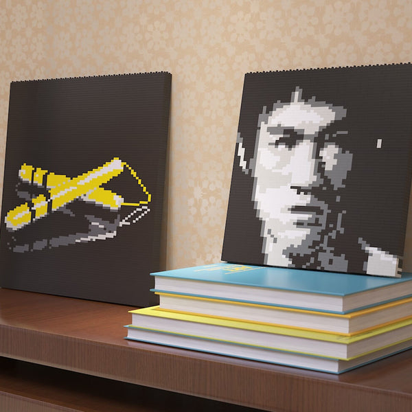 Bruce Lee Brick Paintings - LAminifigs