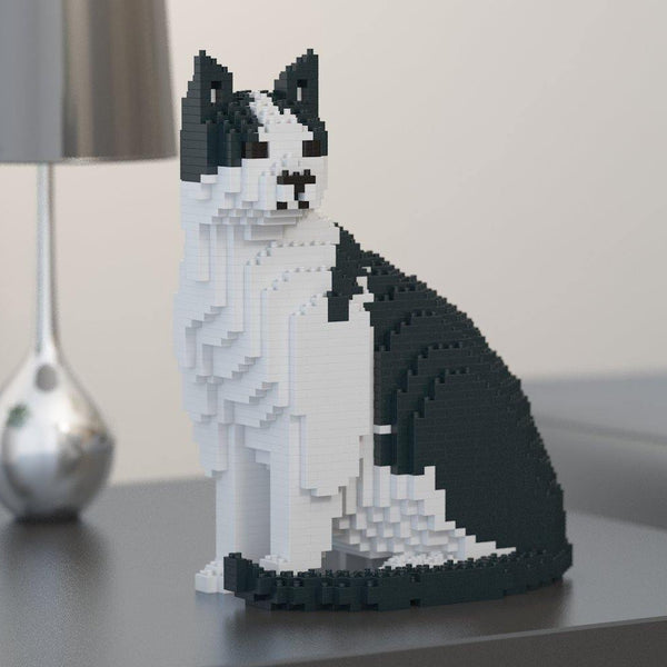 Black & White Cat Sculpture - LAminifigs