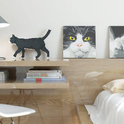 Tuxedo Cat Brick Paintings - LAminifigs