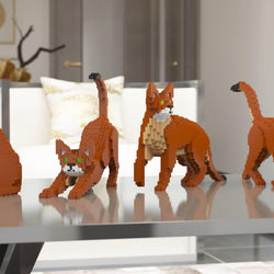 Abyssinian Cats Sculptures - LAminifigs