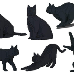 Black Cats Sculptures - LAminifigs