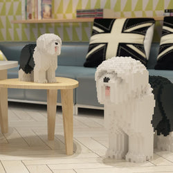 Old English Sheepdog Dog Sculptures - LAminifigs