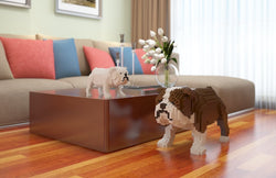 English Bulldog Dog Sculptures - LAminifigs