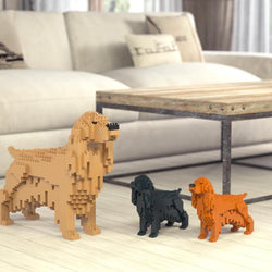English Cocker Spaniel Dog Sculptures - LAminifigs