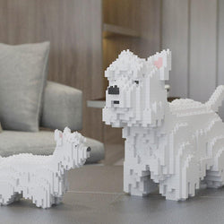West Highland White Terrier Dog Sculptures - LAminifigs