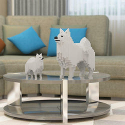 Japanese Spitz Dog Sculptures - LAminifigs