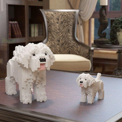 Maltese Dog Sculptures - LAminifigs