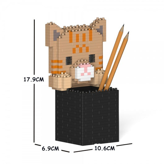 Tabby Cat Pencil Cup - LAminifigs
