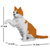 Orange & White Cats Sculptures - LAminifigs