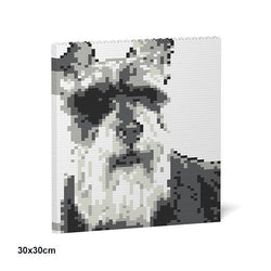 Standard Schnauzer Brick Paintings - LAminifigs