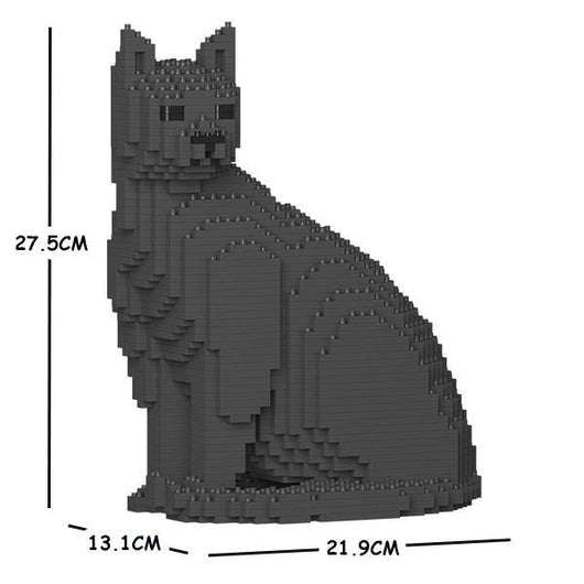 Dark Grey Cats Sculptures - LAminifigs