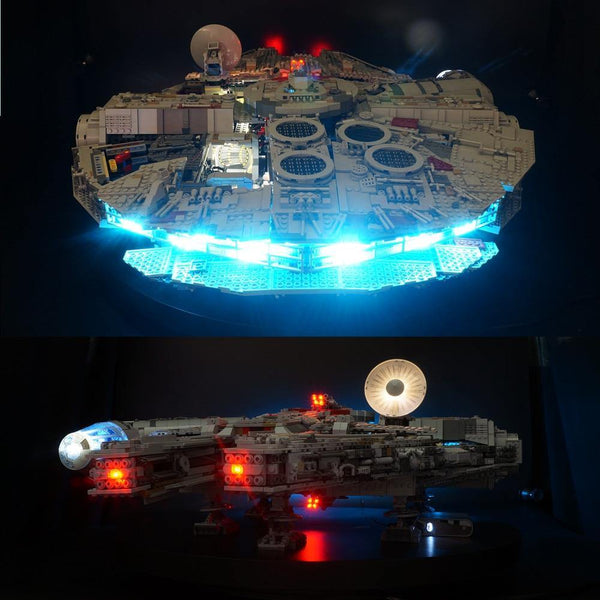 LED Light Kit For LEGO Millennium Falcon building set - LAminifigs