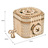 Creative Wooden DIY 3D Treasure Box & Calendar - LAminifigs