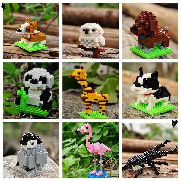 Animals Mini Blocks Building Kits - LAminifigs